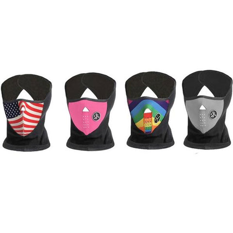 Daily Steals-Unisex Winter Ski Mask (4-Pack)-Outdoors and Tactical-Pink-