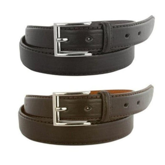 Men's Genuine Leather Belt - 2 Pack-30-32-Daily Steals