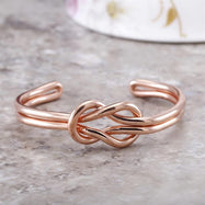 18kt Rose Gold Plated Fashion Cuff Bangles - 2 Styles-Daily Steals