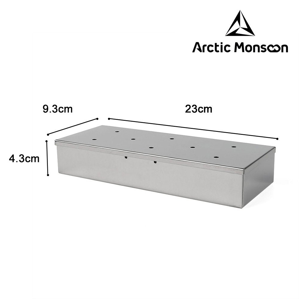 [1 or 4 Pack] Arctic Monsoon Stainless Steel Smoker Box with Lid-1 pack-Daily Steals