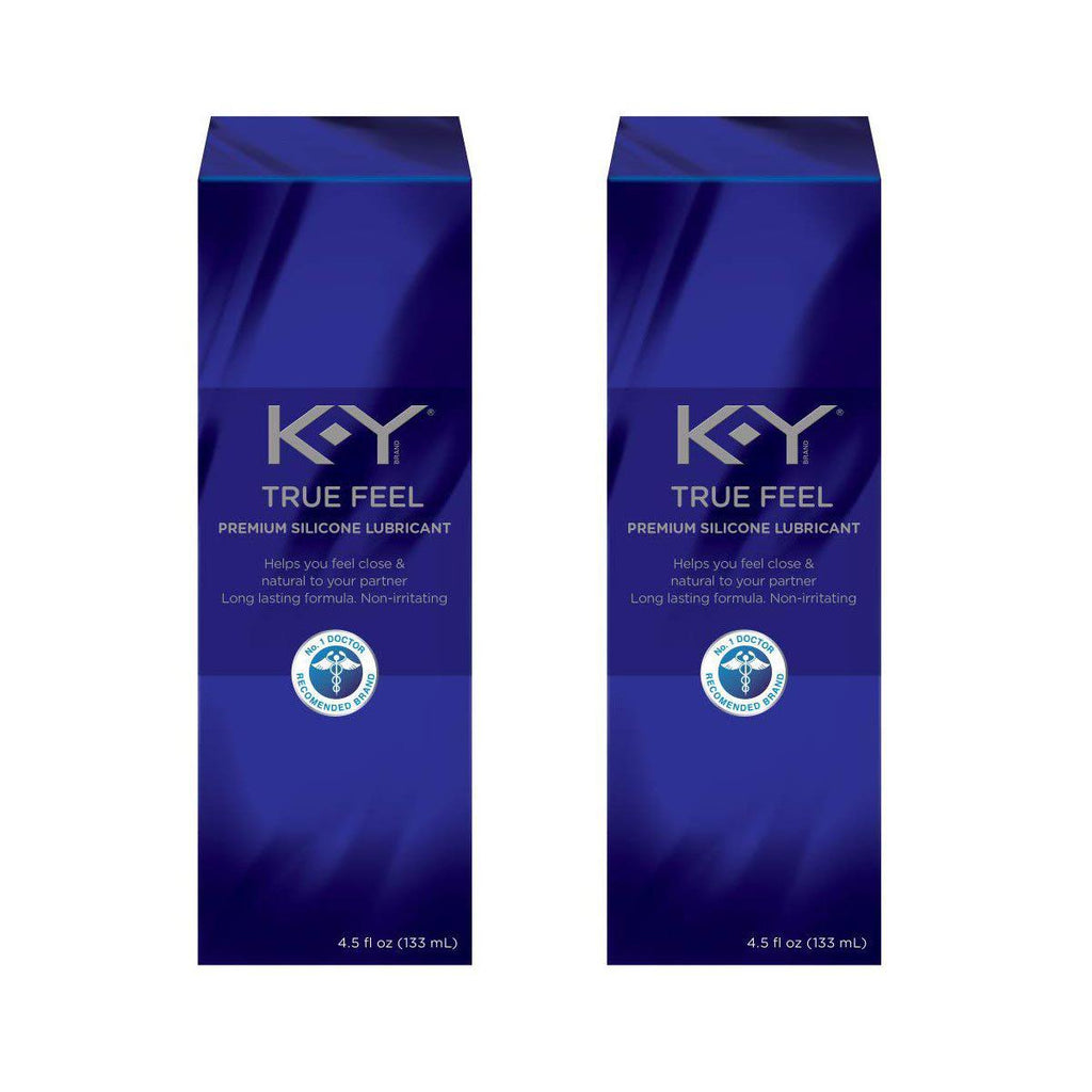 K-Y True Feel Premium Silicone Lubricant, Non-Irritating, 4.5 Oz-2-Pack-Daily Steals