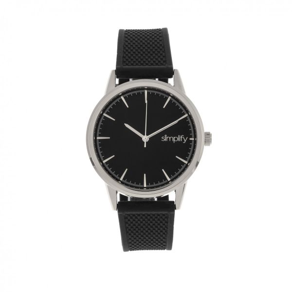 Simplify The 5200 Strap Watch-Silver/Black-Daily Steals