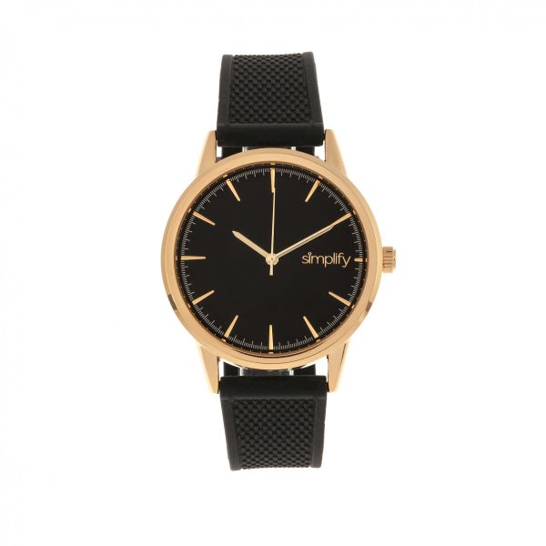 Simplify The 5200 Strap Watch-Rose Gold/Black-Daily Steals