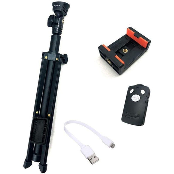 "54"" Aluminum Extendable Selfie Stick Monopod Tripod for Smartphones and Cameras-"