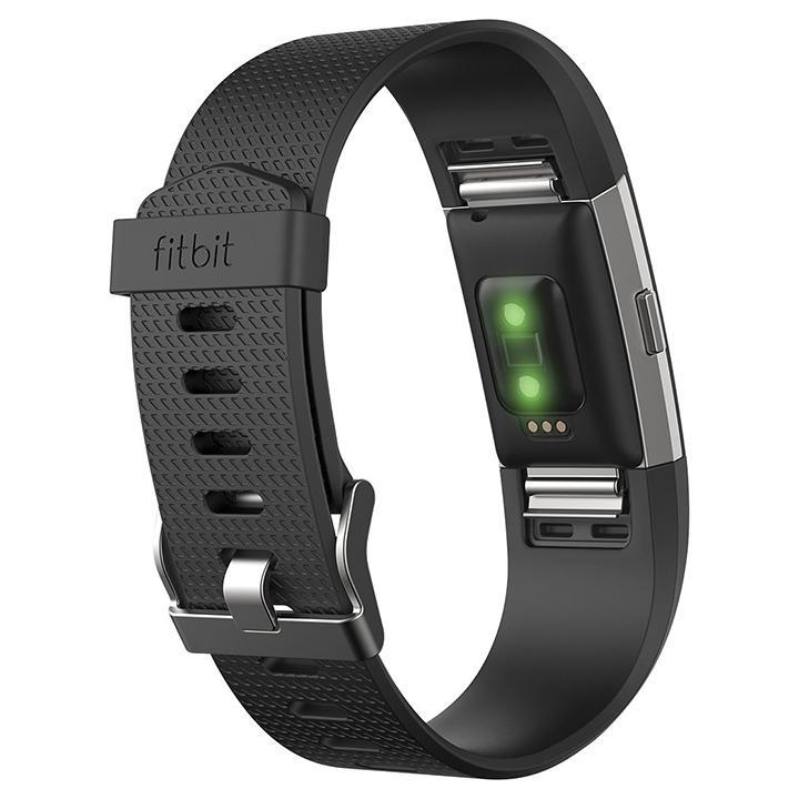 Daily Steals-Fitbit Charge 2 Activity Tracker + Heart Rate (Large) - Black Silver-Wearables-