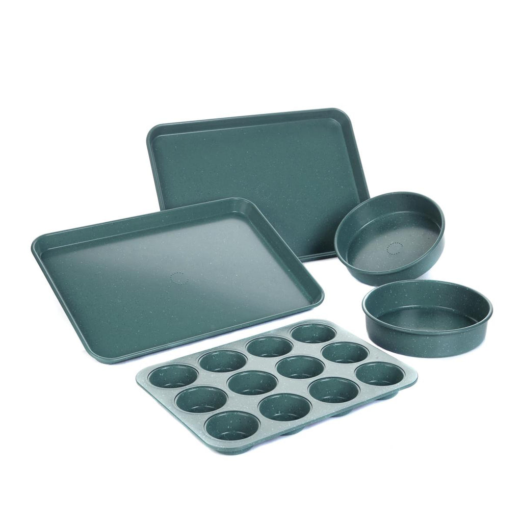 Daily Steals-Curtis Stone Dura-Bake 5-piece Bakeware Set-Kitchen Essentials-Turquoise-