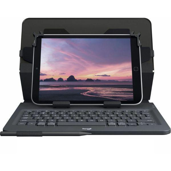 "Logitech Universal Folio with Integrated Bluetooth 3.0 Keyboard for 9-10"" Apple, Android, Windows Tablets-Daily Steals"