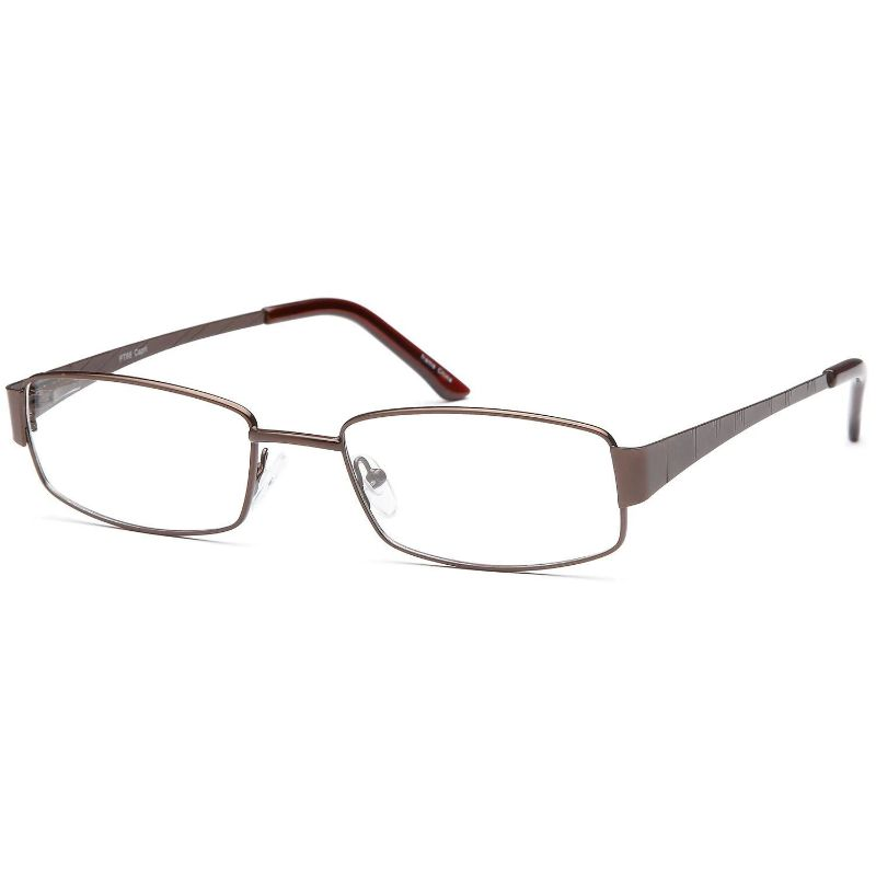 Men's Eyeglasses 55 20 145 Brown Metal