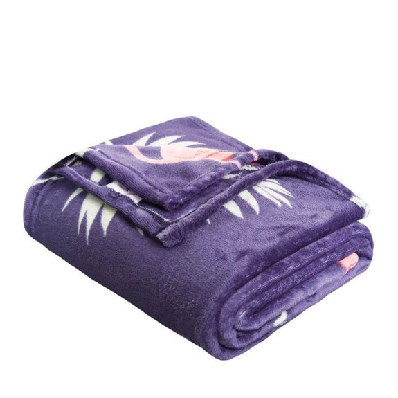 Noble House Printed Super Soft Microplush Throw Blanket-Flamingo-Daily Steals