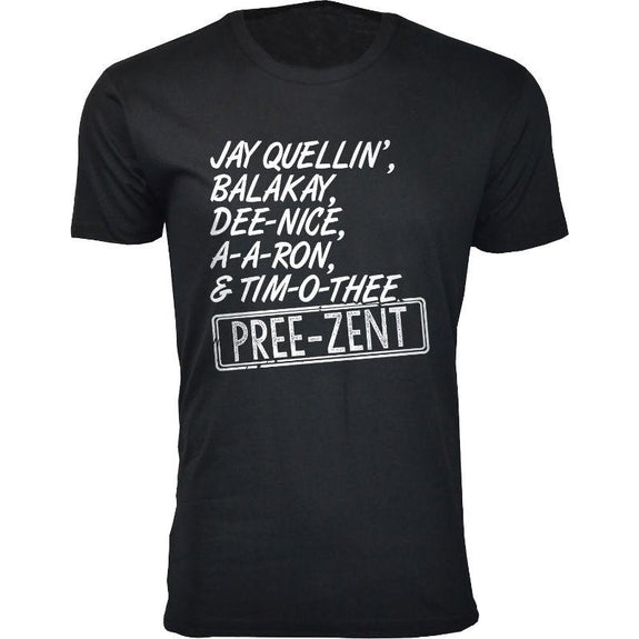 Men's A-A-Ron Balakay Humor T-Shirts-Black-Jay Quellin, Balakay, Dee-Nice-M-Daily Steals