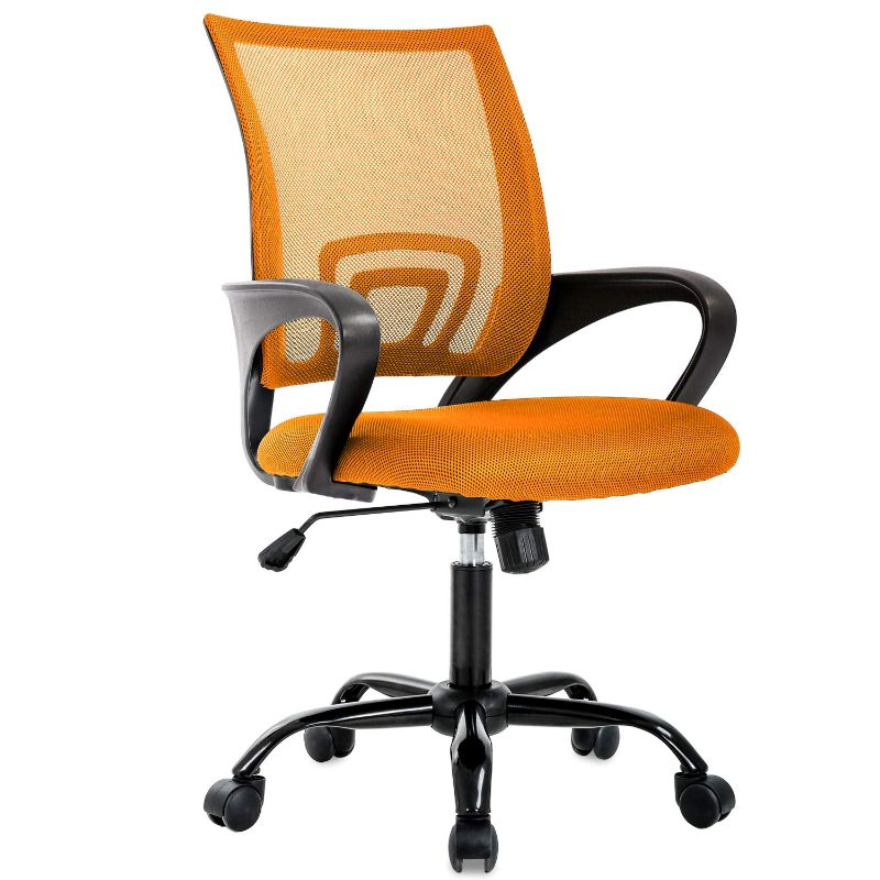 Mesh Ergonomic Office Chair-Orange-Daily Steals