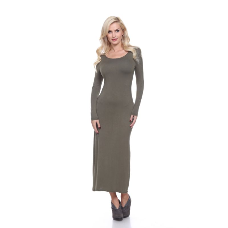 WhiteMark 'Ria' Dress-Olive-M-Daily Steals