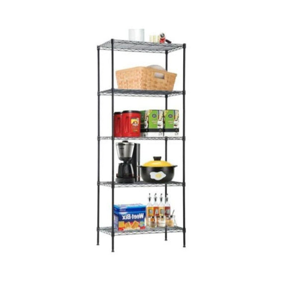 Commercial Metal Shelving Unit - 4-Tier or 5-Tier-5-Tier-Daily Steals
