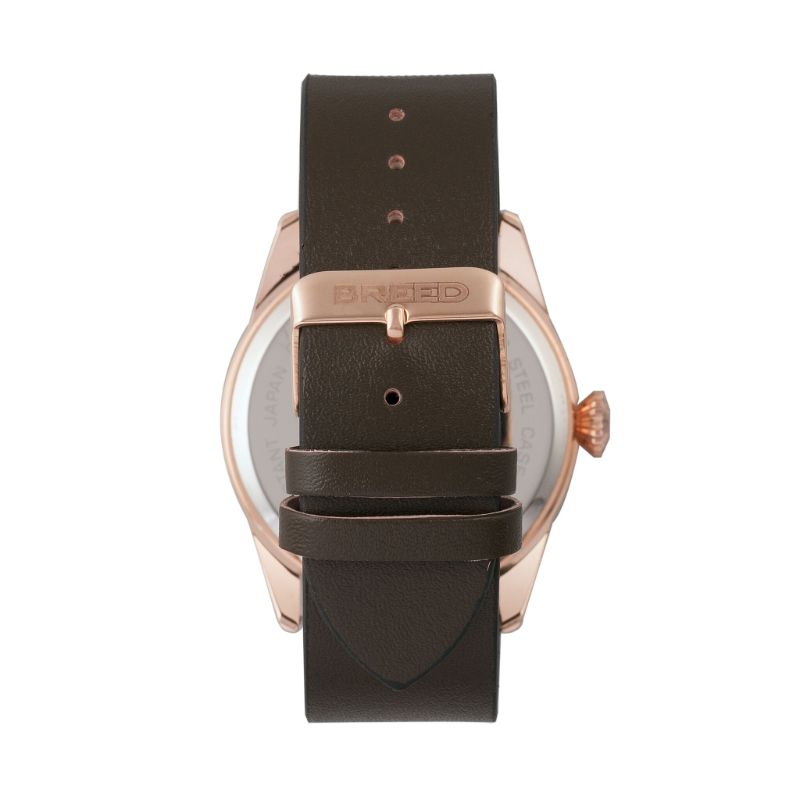 Breed Rio Leather-Band Watch w/Day/Date-Daily Steals