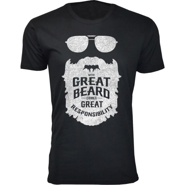 Men's 'Greatest Beard' T-shirts-S-With Great Beard Comes - Black-Daily Steals