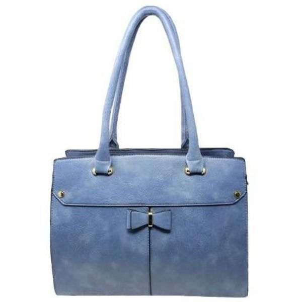 Women Leather Shoulder Vintage Tote Handbag-Blue-Daily Steals