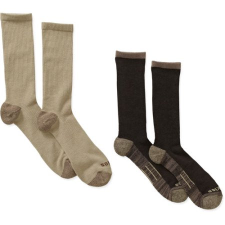 Daily Steals-[4-Pair] Dickies Men's Performance Office to Casual Crew Socks - Assorted Colors-Men's Apparel-