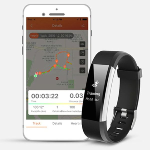 Fitness Tracker 0.96'' OLED Touch Screen with Heart Rate Monitor-Daily Steals
