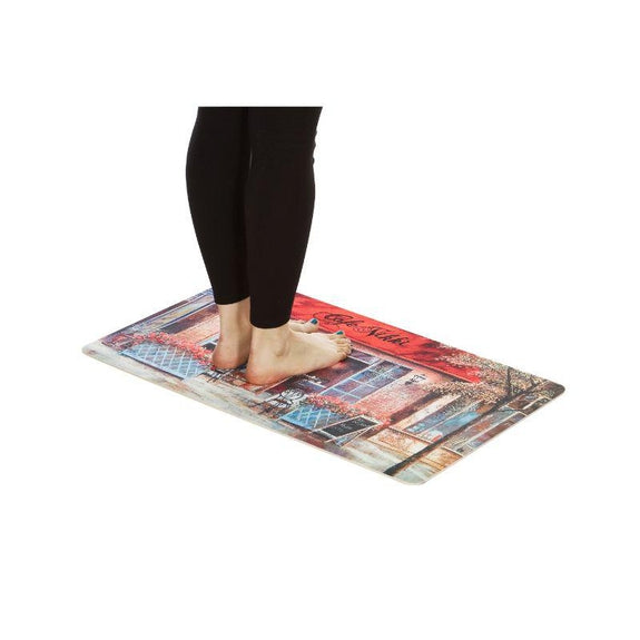 Anti-Fatigue Cushioned Kitchen Mats - 2 Pack-CAFÉ NIKKI Mat - Set of Two-Daily Steals