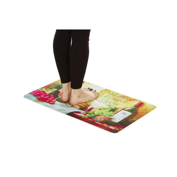 Anti-Fatigue Cushioned Kitchen Mats - 2 Pack-WINE TABLE Mat - Set of Two-Daily Steals