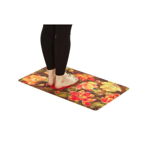 Tapis de cuisine rembourrés anti-fatigue - Paquet de 2 - Spring Bloom-Daily Steals