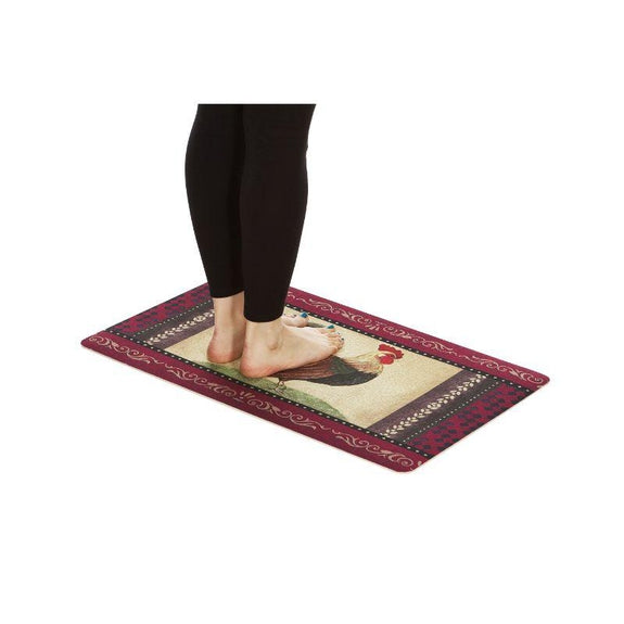Anti-Fatigue Cushioned Kitchen Mats - 2 Pack-Rooster Mat - Set of Two-Daily Steals