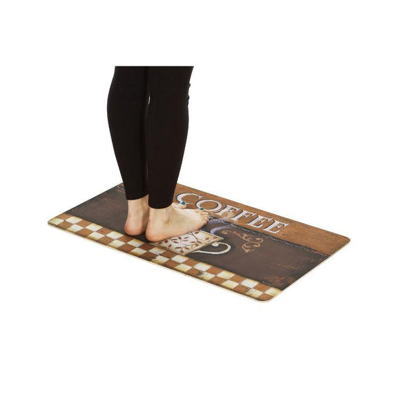 Anti-Fatigue Cushioned Kitchen Mats - 2 Pack-Vintage Coffee-Daily Steals