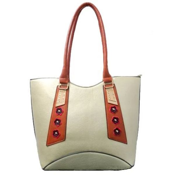 Stylish Tote Vintage Leather Handbag-Gold-Daily Steals