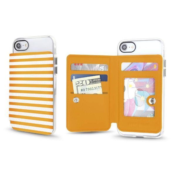 Gear Beast Universal Cell Phone Folio Wallet-Grapefruit Stripes-Daily Steals
