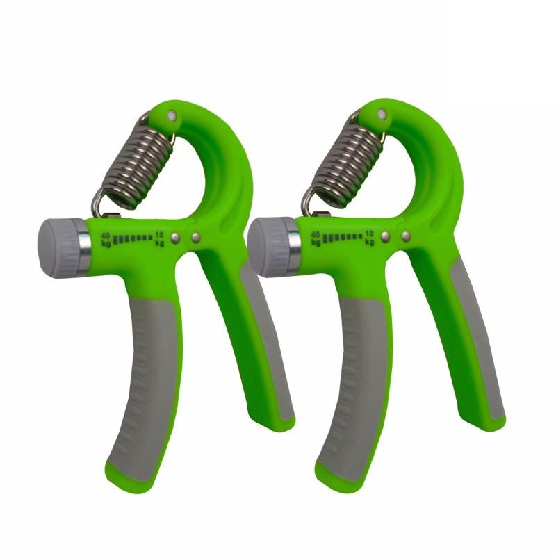 Hand Gripper with Adjustable Resistance - 2 Pack-Green/Grey-Daily Steals