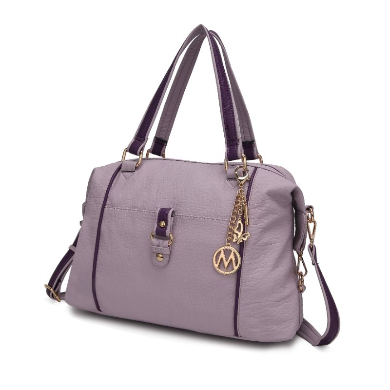 Opal Satchel Handbag by MKF-Lilac-Purple-Daily Steals