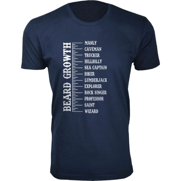 Daily Steals-Men's 'Awesome Beard' T-shirts-Men's Apparel-Beard Growth - Navy-S-