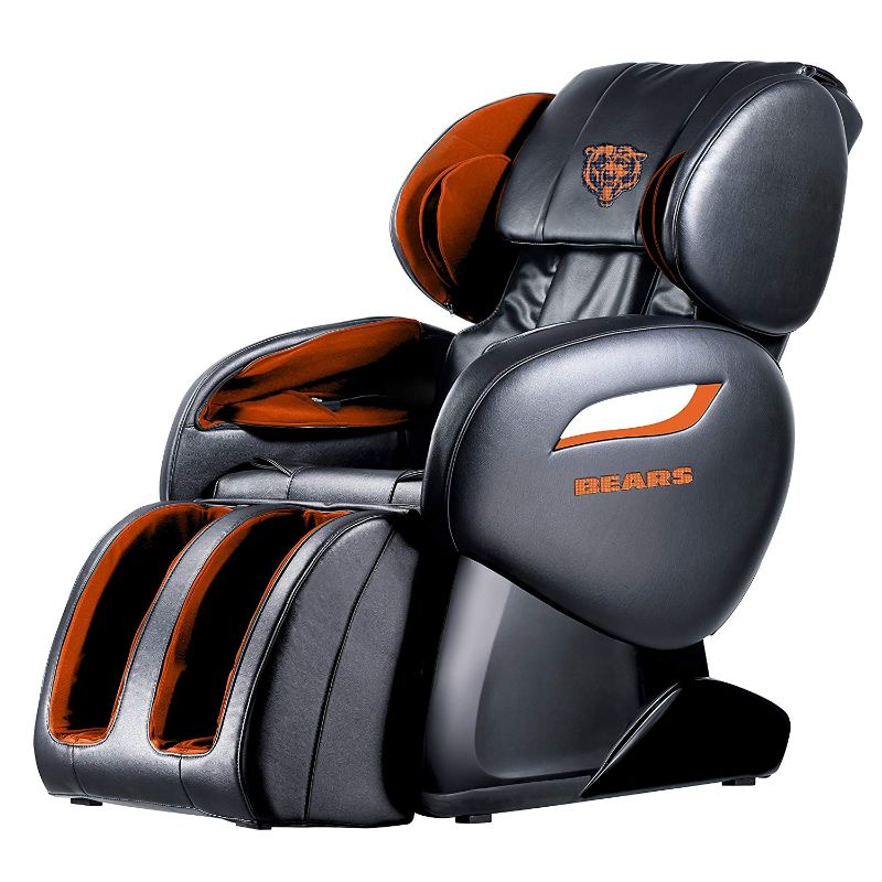 NFL Electric Full Body Shiatsu Massage Chair with Foot Roller-Chicago Bears-Daily Steals