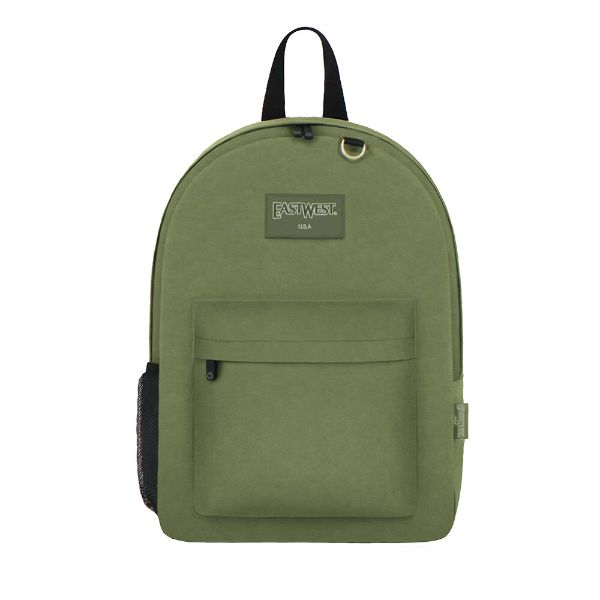 East West Classic Backpack with Key Holder and Bottle Holder-Olive-Daily Steals
