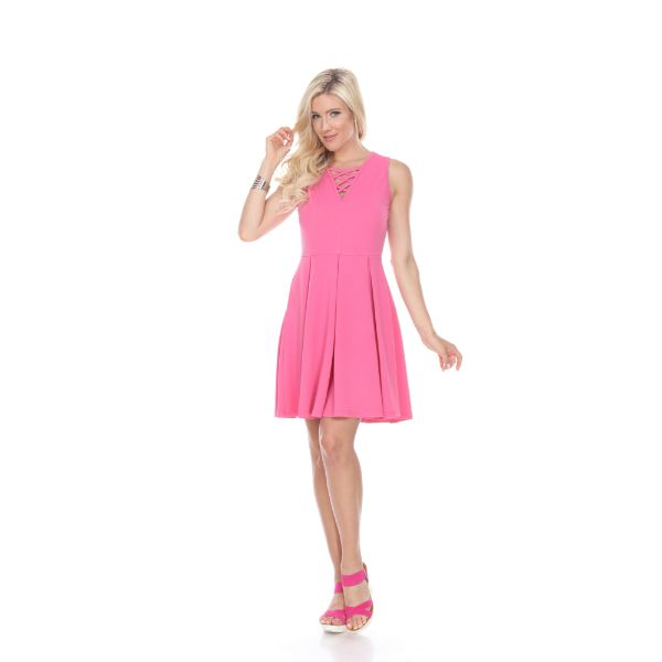 Shay' Fit & Flare Dress-Fuchsia-S-Daily Steals