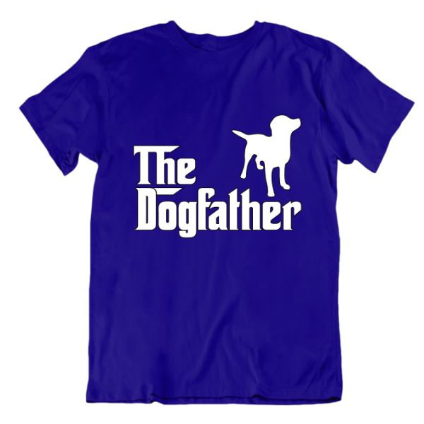 """The Dogfather"" T-Shirt-Royal Blue-Small-Daily Steals"