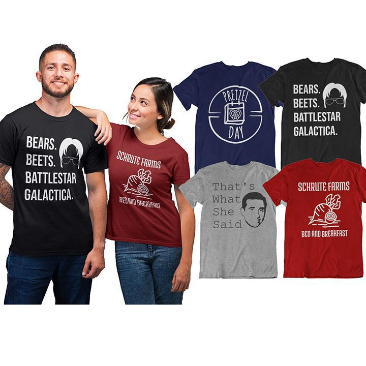 The Office Theme Inspired Tees - 4 Styles!-Daily Steals