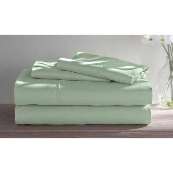Dorm Room Bamboo Twin Extra Long Sheet Set- 3 Piece-Sage-Full-Daily Steals