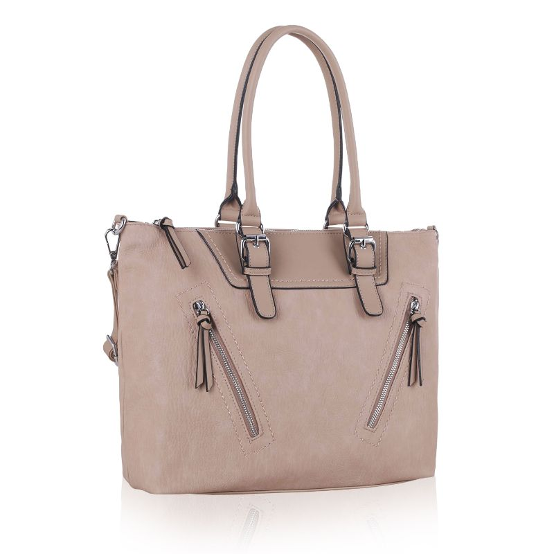 Leone Satchel Handbag by MKF-Taupe-Daily Steals