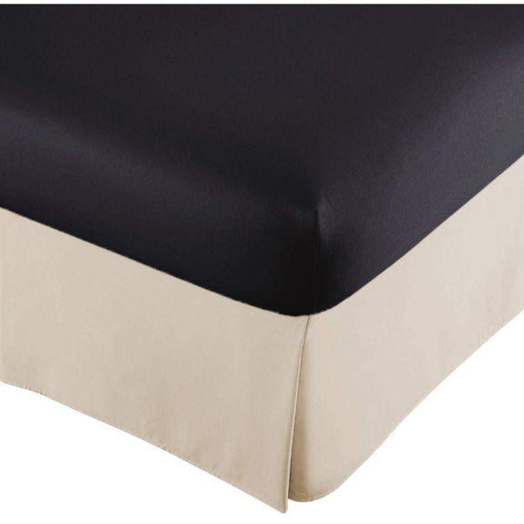 100% Ultra-Plush Microfiber Bed Skirt-Vanilla-Pleated-Queen-Daily Steals