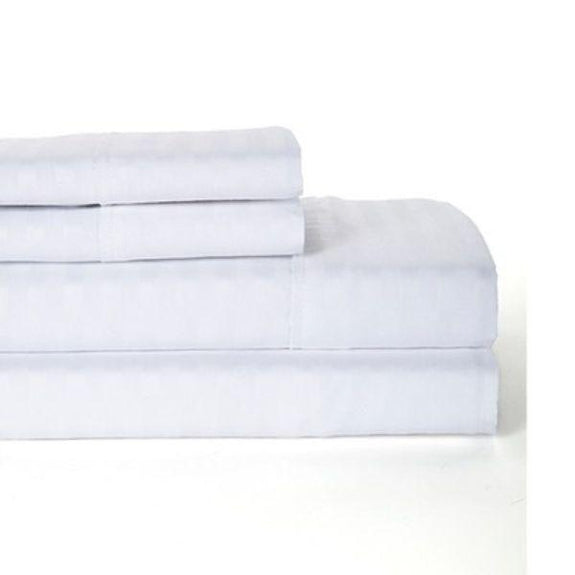 Sábanas de la serie 1800 a rayas Ultra-Soft Lux Decor-Blanco-Twin-Daily Steals