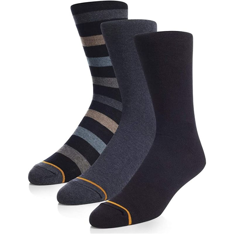 Gold Toe Men's Assorted Casual Crew Socks - 6 Pairs