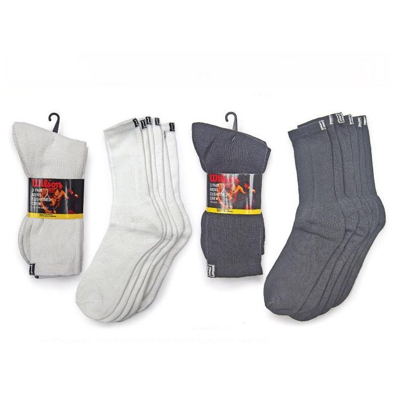 Daily Steals-[6-Pairs] Wilson Men's Cushioned Crew Socks-Men's Apparel-