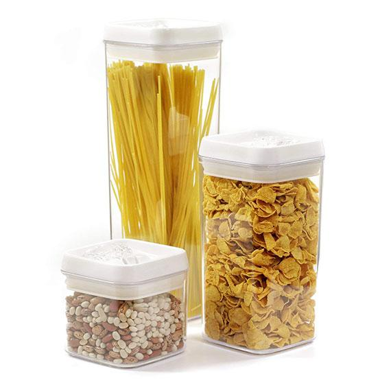 Daily Steals-[6-Piece Set] Flip-Tite Food Storage Canisters-Kitchen Essentials-Square-