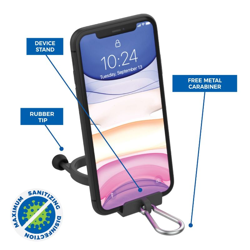 Anti-Germ Utility Keychain with Built in Phone Stand - 6 Pack