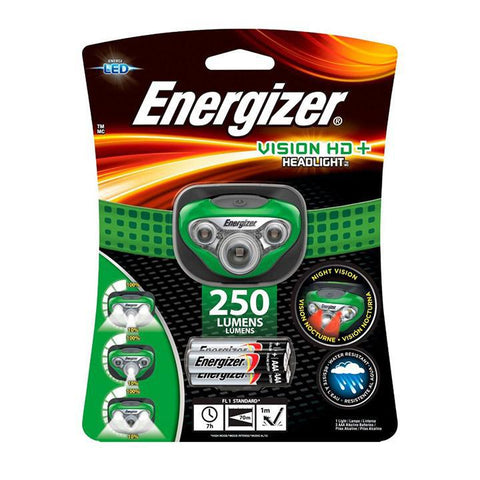 Daily Steals-Energizer 250 Lumen Vision HD+ Headlight LED Head Flashlight - Green-Outdoors and Tactical-