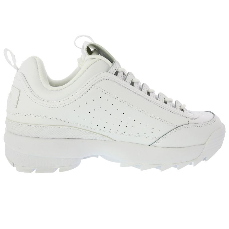 Fila Men's Disruptor Ii Premium Ankle-High Patent Leather Sneakers - White-Daily Steals