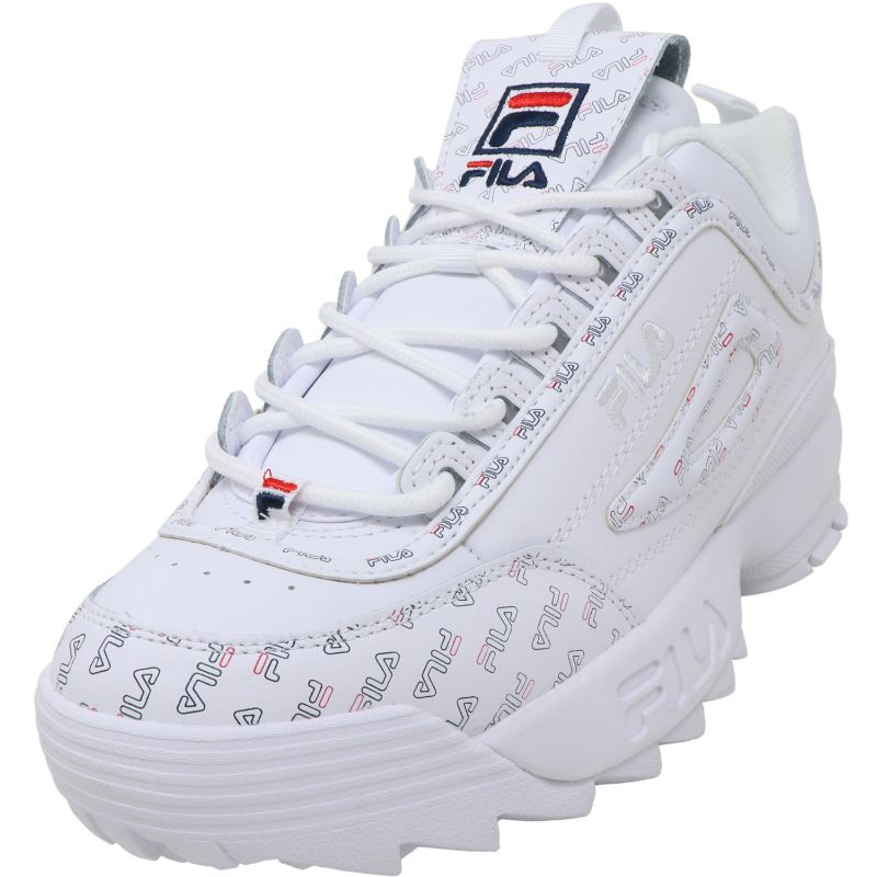 Fila Women's Disruptor Ii Multiflag Ankle-High Leather Sneakers - Size 10-Daily Steals