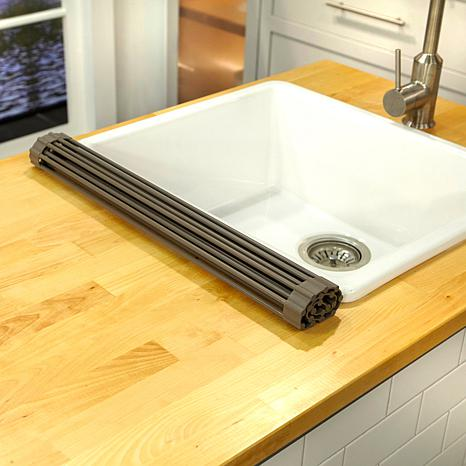 Curtis Stone Roll Up Drying Rack and Trivet-Daily Steals