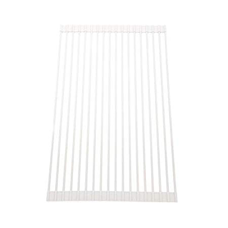 Curtis Stone Roll Up Drying Rack and Trivet-White-Daily Steals